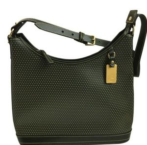 Dooney & Bourke Cabrio Green Perforated Hobo Purse